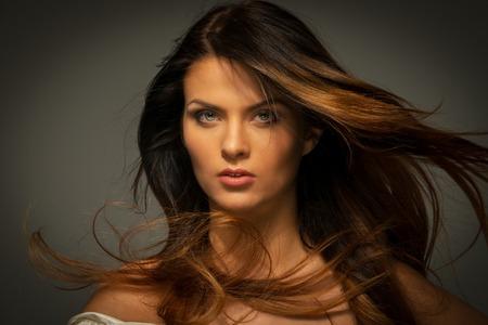 fatal: Seductive fatal brunette woman with long hair