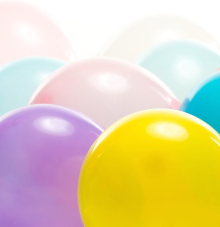 Colourful balloons isolated on white  Stock Photo