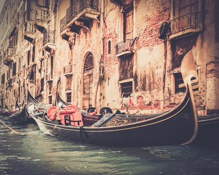 Traditional Venice gondola ride photo