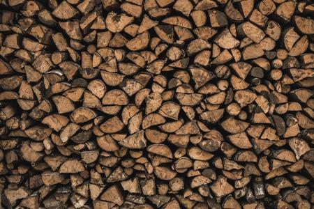 sawed: Stockpile of sawed logs