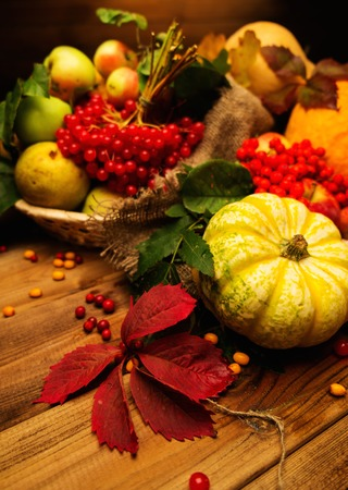 Thanksgiving day autumnal still life photo