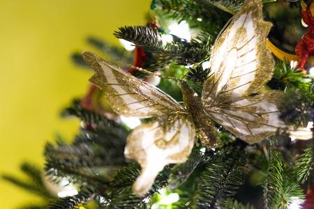 Decorated beautiful Christmas tree photo