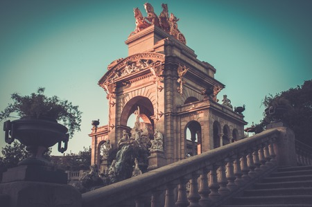 Fountain in a Parc de la Ciutadella, Barcelona photo