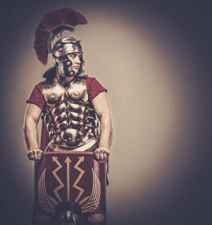 legionary: Legionary soldier with shield