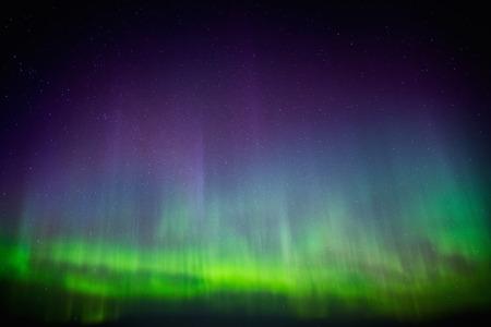 arctic zone: Beautiful Aurora Borealis in the sky