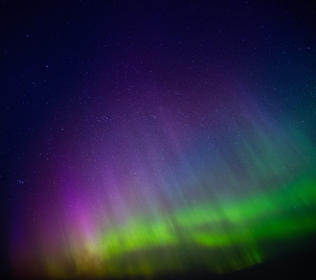 ionosphere: Beautiful Aurora Borealis in the sky