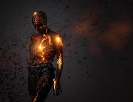 infierno: Criatura hecha de lava y fuego