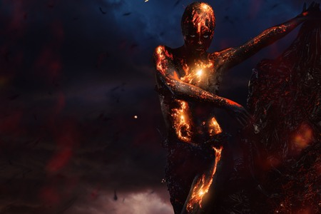 ashes: Creature made from lava and fire