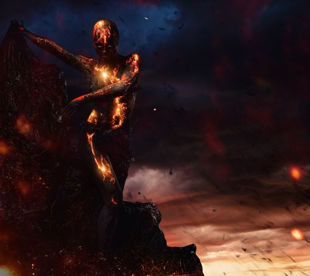 creature: Creature made from lava and fire