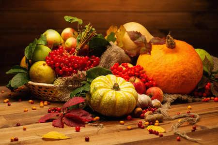 vida natural: Día de Acción de Gracias bodegón otoñal