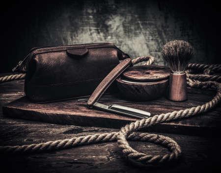 gentleman: Gentlemans accessories on a luxury wooden board Stock Photo
