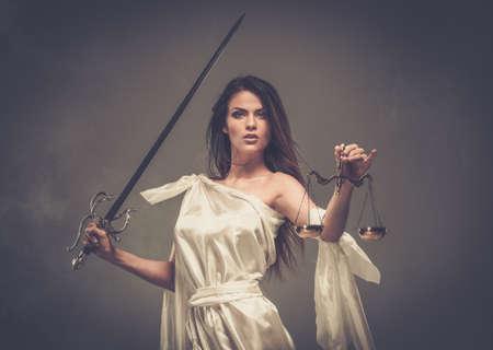 femida: Femida, Goddess of Justice, with scales and sword