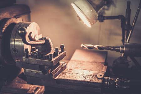 automobile workshop: Lathe machine in a workshop