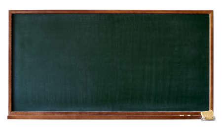 lavagna: Verde, bianco lavagna con cornice in legno, chalktray e gomma. Isolato su bianco. Aggiungere qualsiasi testo, o un messaggio di saluto che si desidera.