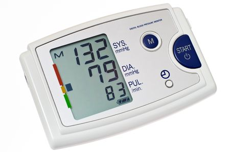 Automatic digital blood pressure monitor. Isolated on white background.  Stock Photo - 1989558