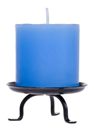 sconce: Blue candle