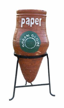 separato: Garbage bin per separare carta trash