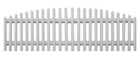 white picket fence: Picket fence isolated on whiteObject is seamless. Outermost planks are identical, so you can replicate it left and right any times.