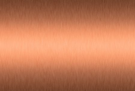 foils: Brushed copper plate with central highlight