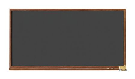 Black school board isolated on white background with clipping path photo