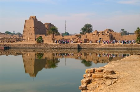 supposed: Sacred Lake in Karnak Temple, used for purification of souls, where tradition of Christian baptism is supposed to come from