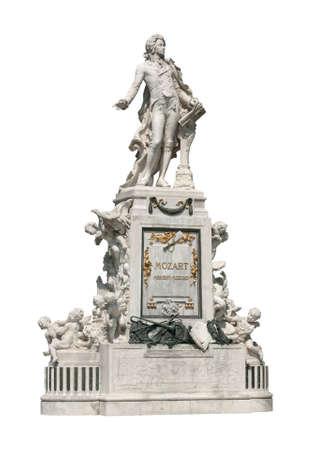 amadeus mozart: Fragmento de memorial de Wolfgang Amadeus Mozart en el jard�n de Burggarten, Viena, Austria. Monumento fue creado por el escultor Viktor Tilgner en 1896 y ahora est� en el dominio p�blico.