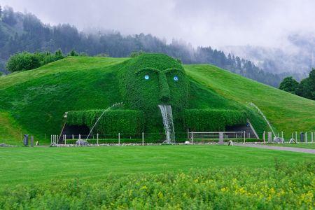 tyrol: Innsbruck, Tyrol, Austria - May 04, 2008: Swarovski Kristallwelten (Crystal World) museum entrance