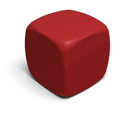Gambling dice with blank faces to put on any symbol or glyph  Stock Photo