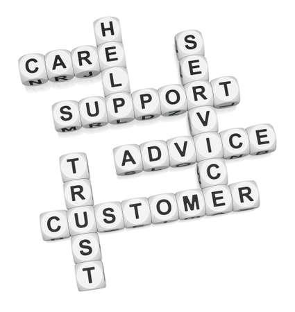 Customer trust crossword on white background 3d render Stock Photo - 9346720