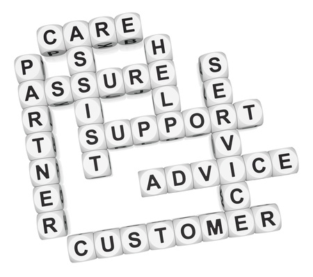Customer partner crossword on white background 3d render Stock Photo - 9346717
