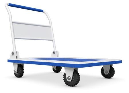 Empty Hand truck on white background photo