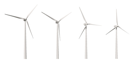 engine powered: Windmill isolated on white background with clipping path Stock Photo