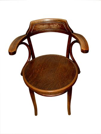 pew: Chair made by hand, isolated