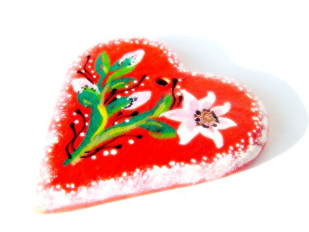 fourteenth: Illustrated heart 1 Stock Photo