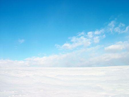 Snow and sky