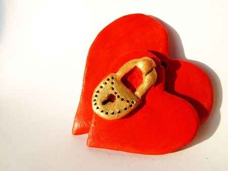 Two hearts with lock
