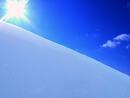 snowbank: Snow sky and sun for pattern Stock Photo