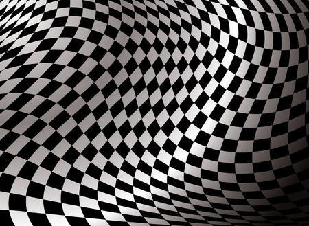 isolation backdrop: checkered flag abstract background in black and white with a gradient