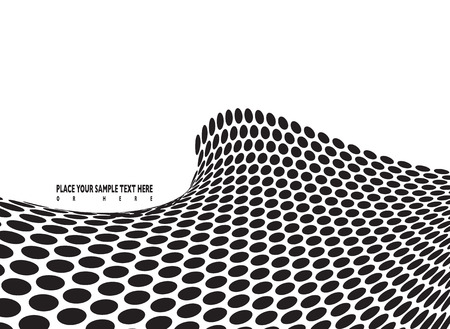abstract halftone wave in black and white with room to add your own text