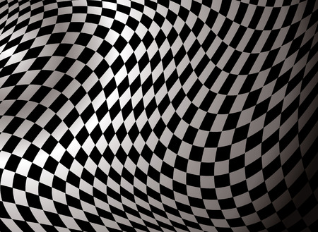nascar: checkered abstract background in black and white showing a finishing flag