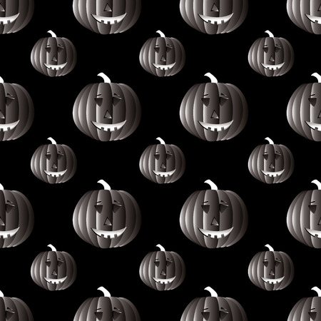 that: illustrated halloween background in mono black and white that seamless repeats