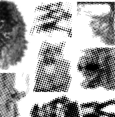 Collection of halftone dots that can be used as elements within your own design Stock Vector - 1805634