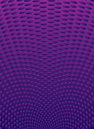 radiating: Viola irradia con sfondo ovale forme in prospettiva