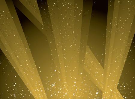 shafts: goldene Wellen des Lichts schie�en in den Himmel auf die Sterne