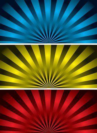 radiating: radiante illustrazione con tre colori variazione ideale come sfondo  Archivio Fotografico