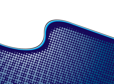 swell: Illustrated wave with overlayed halftone ocean swell in blue