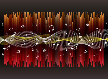 Illustrated musical graphical experience ideal as a background