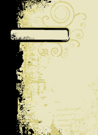 yellows: worn torn abstract background in subtle yellows with room for your own text