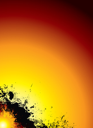hues: red hot sun explosion background with red and yellow hues Illustration