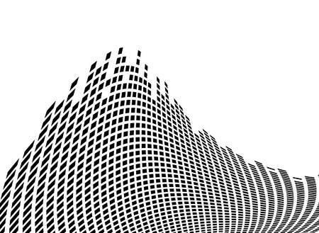 equaliser: graphic equaliser block background in black and white with room for your own text Illustration